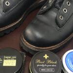 ワークブーツに靴クリームを塗ってみよう