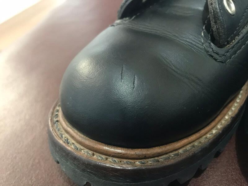 靴クリーム無しのブーツ