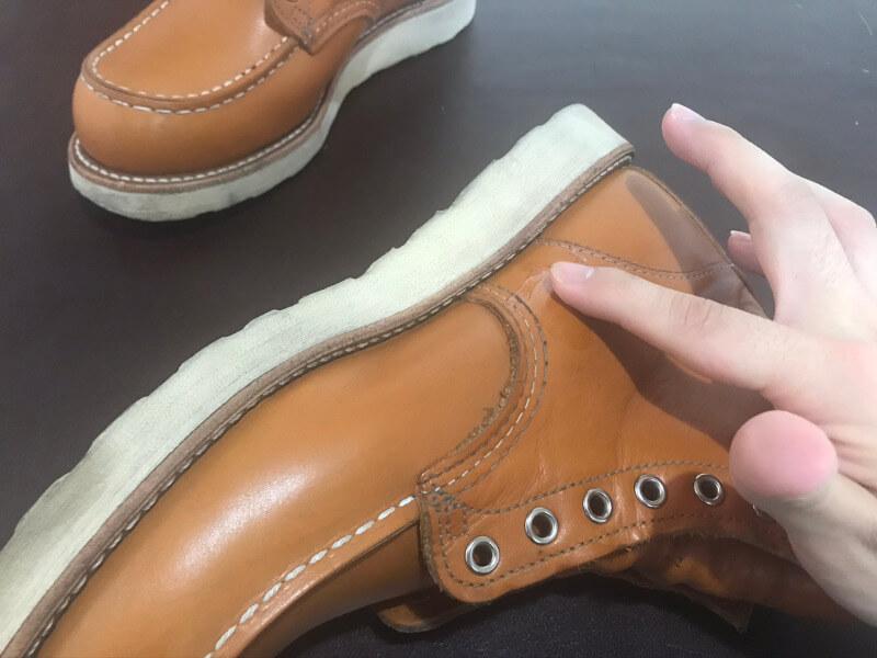 ブーツに塗り込む