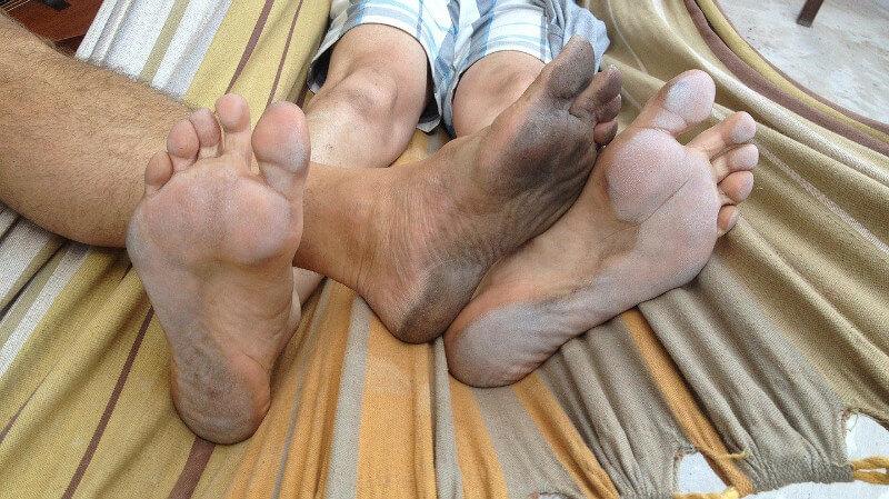 臭そうな足