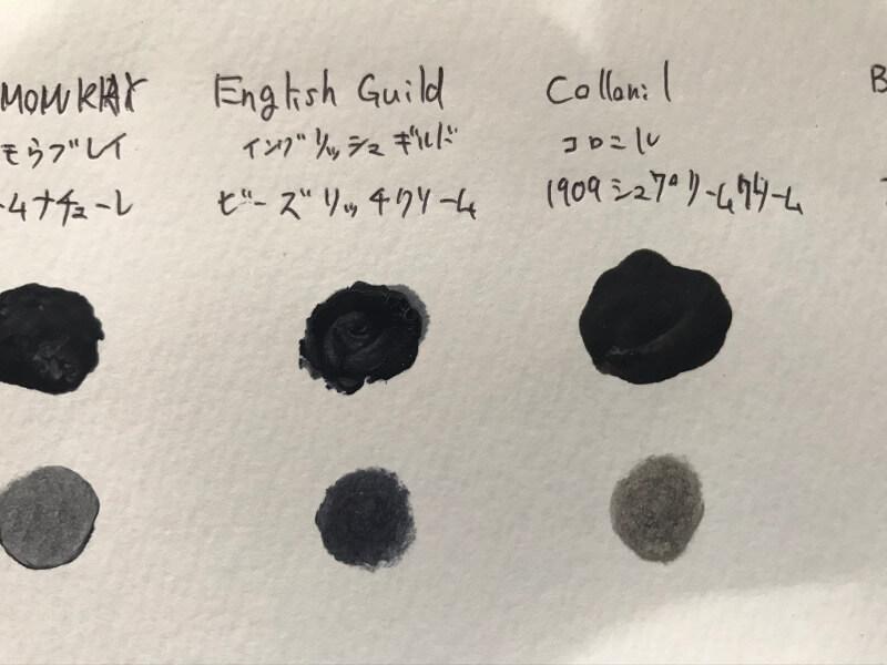 イングリッシュギルドのビーズリッチクリームとコロニルの1909シュプリームクリームデラックスの比較