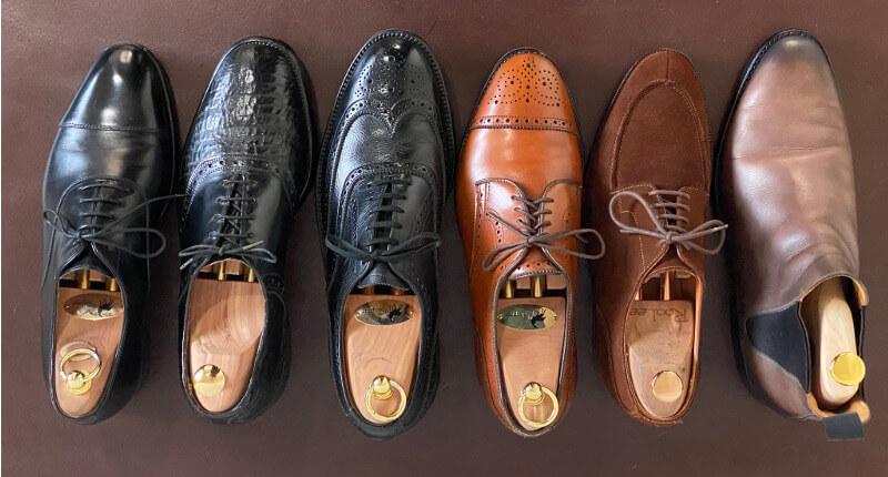 革靴の比較写真