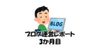 ブログ3か月目