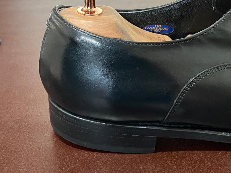 革靴のかかと部分