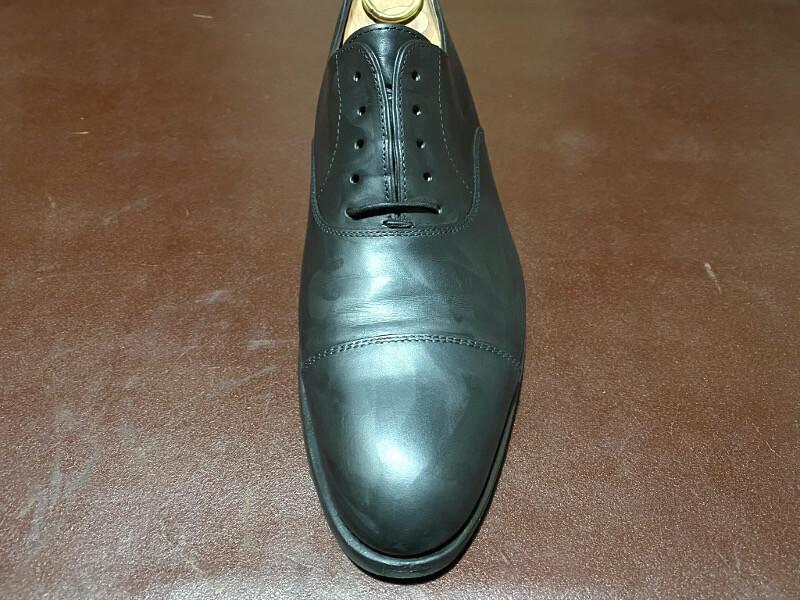 油性靴クリーム塗布後