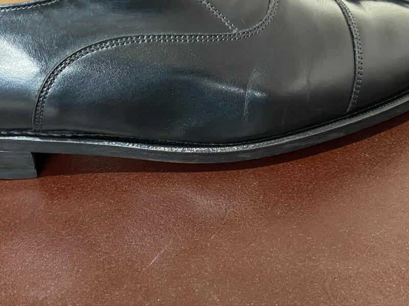 革靴の側面部分