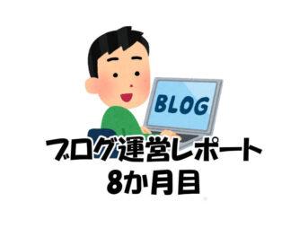 ブログ運営レポート(8か月目)