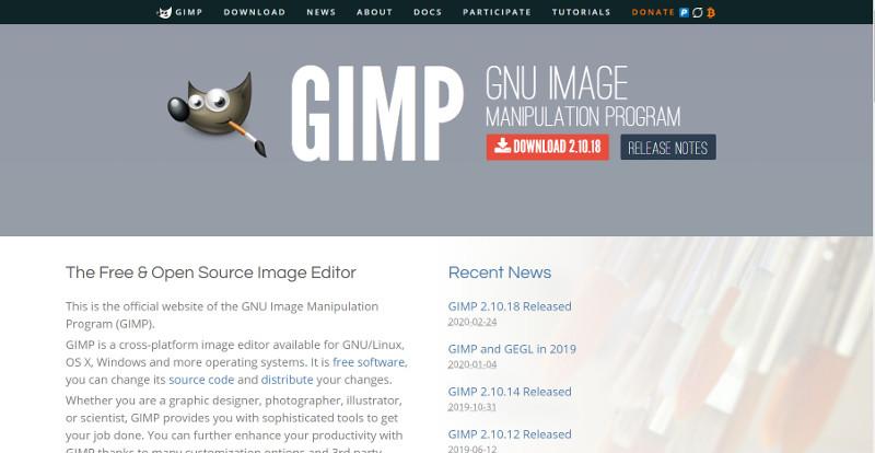 Gimp公式サイト