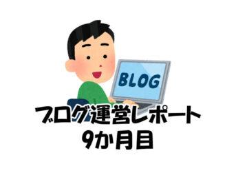 ブログ運営レポート(9か月目)