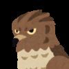 鋭い目をした鷹