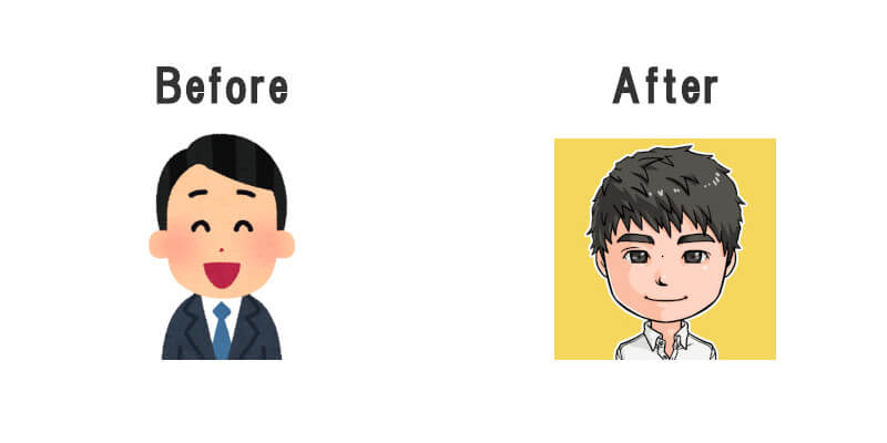 アイコン Before After