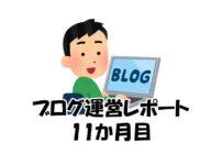 ブログ運営レポート11か月目