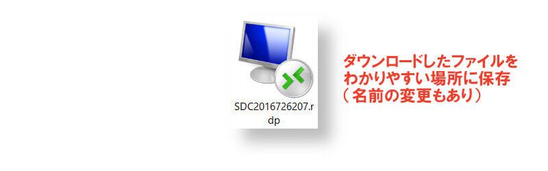接続用ファイル